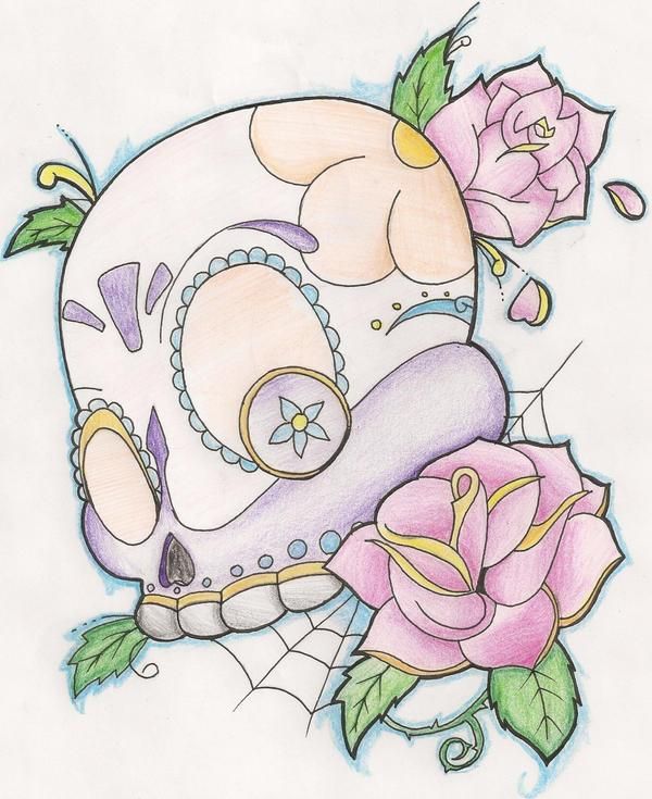 bbd30b7c909c1 Girly Sugar Skull Deviantart - | TattooMagz › Tattoo Designs / Ink ...