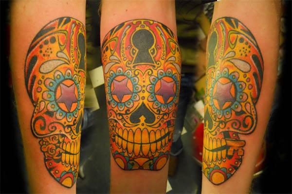 Lock And Key Sugar Skull Tattoo Ink Art Tattoos