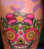 Girly Skull Tattoos Firefighter