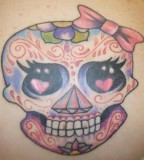 Makems Girly Sugar Skull Tattoo Graphic