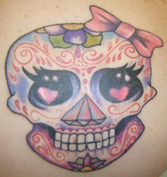 Makems Girly Sugar Skull Tattoo Graphic