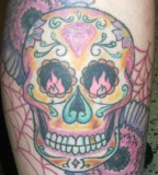 Sugar Skull Celebration Tattoo