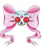Sugar Bow Girly Sugar Skull Tattoo