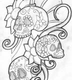 Sugar Skull Tattoo Design Ideas