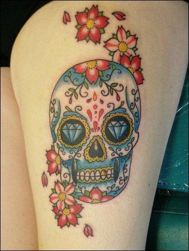 Sugar Skull Tattoo Meaning [NSFW]