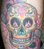 Candy Skull Tattoo For Men Image