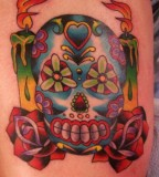 Colorful Sugar Skull Tattoo Inked Inspiration