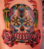 Colorful Sugar Skull Tattoo Inked Inspiration
