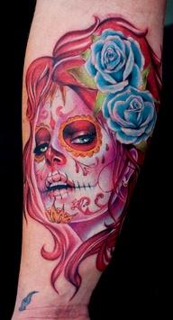 Sugar Skull Tattoos for Halloween