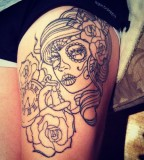 Cute Rose Tattoos Outline