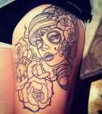 Cute Rose Tattoos Outline