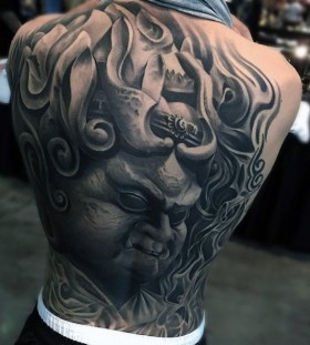 goblin portrait tattoos for men