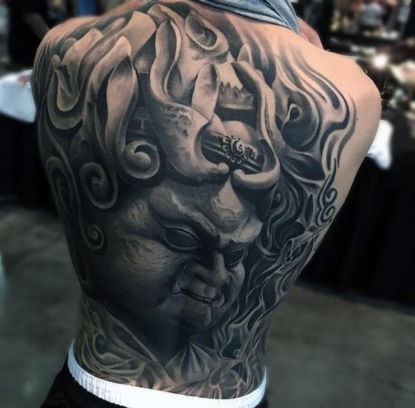 goblin portrait tattoos for men
