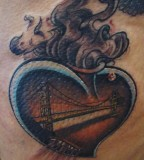 Beautiful Danenes Heart With The Golden Gate Bridge Photos By Johnny Diaz