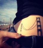 SF Golden Gate Bridge Tattoo Inspiration