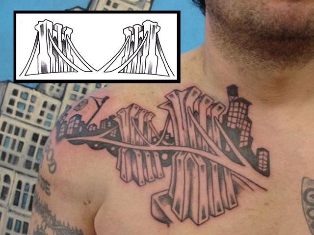 Cool Brooklyn Bridge Images Tattoo