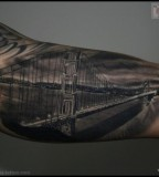 Chic San Francisco Golden Gate Bridge Tattoo Ideas
