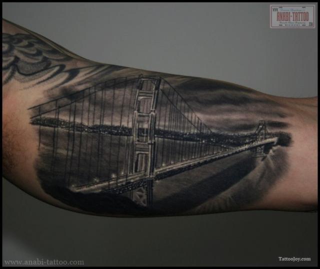 Chic San Francisco Golden Gate Bridge Tattoo Ideas