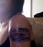 Golden Gate Bridge Tattoo By Alex Werder