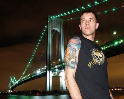 Awesome Verrazano Bridge Tattoo