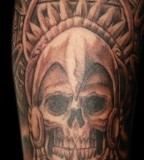 Aztec Skull By Steve Soto Goodfellas Tattoo