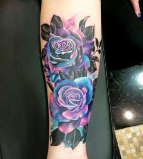 gorgeous rose flower tattoo