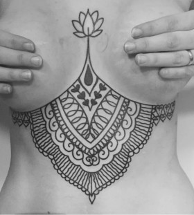 gorgeous underboob tattoos for women