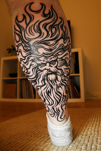 Amazing Zeus Greek God Tattoo Inspiration Photo