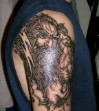 Greek Mythology Mythical Character Sleeve Tattoo Design