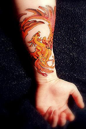 Beautiful Greek Arm Tattoo For The Women