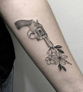 gun-shooting-flowers-tattoo-by-marla_moon