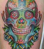 Goolge Tattoos Sugar Skull Colorfull Gyspsy Tattoo