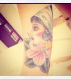 Gypsy Head Rockabilly Ruby Arms Tattoo