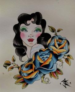 Gypsy Head Roses By Krystal Tattoo Shop