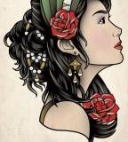 Gypsy Head Tattoo Sam Phillips Artist Illustrator Graphic
