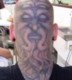 Oldman with Beard Gipsy Head Tattoo