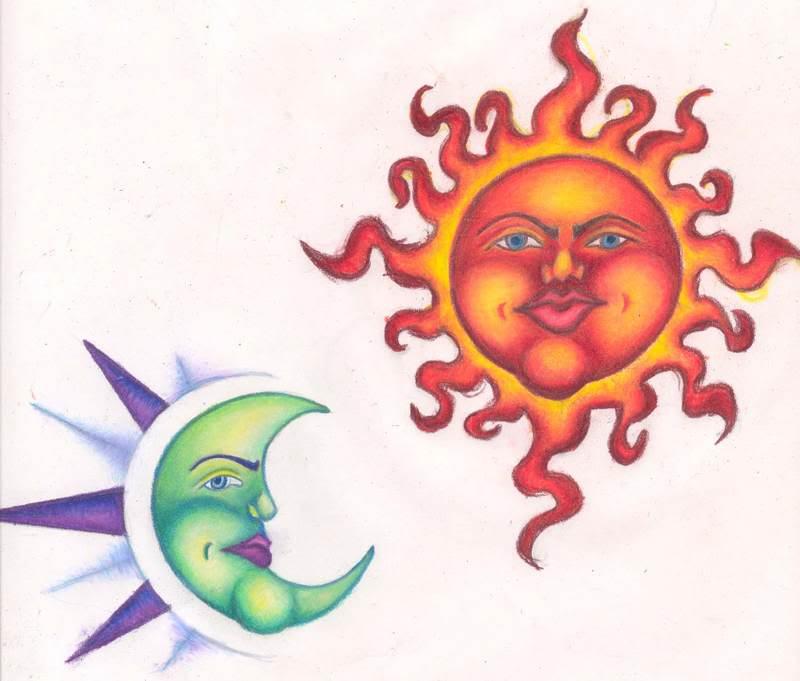4650b371c Unique Half Moon And Sun Tattoos - | TattooMagz › Tattoo Designs ...