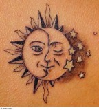 Exquisite Sun and Moon Tattoo Design Inspiration