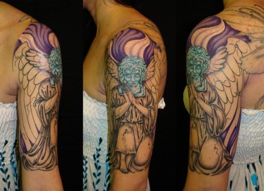 Gates of Eden Half Sleeve Tattoo Designs