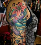Fascinating Half Self Sleeve Tattoo Designs for Women