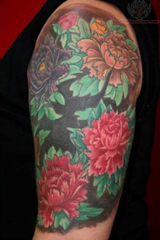 0e450a883 Original Half Sleeve Oriental Flower Tattoo - | TattooMagz › Tattoo ...