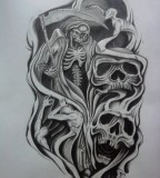 Half Sleeve Tattoo Design By Karlinoboy for Men