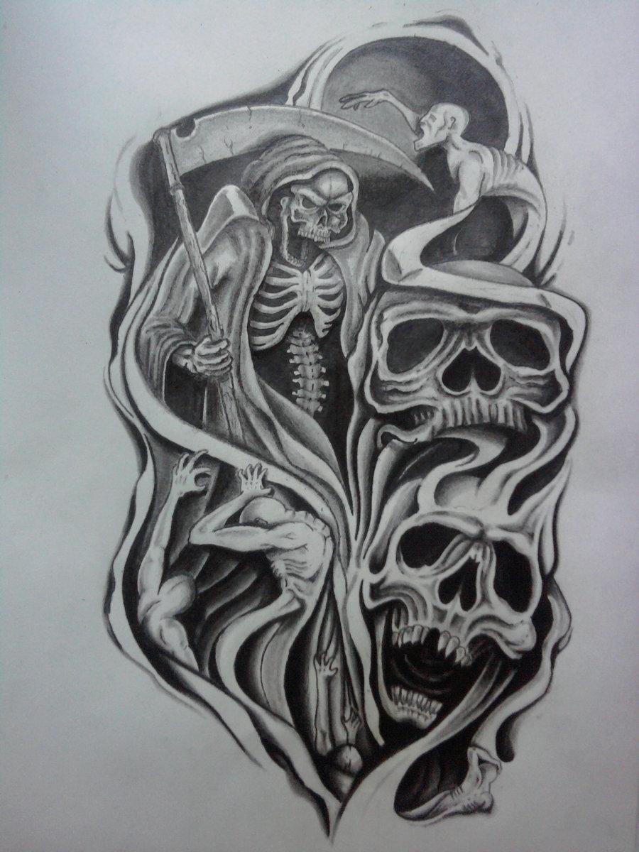 edc989b9a Half Sleeve Tattoo Design By Karlinoboy for Men - | TattooMagz ...
