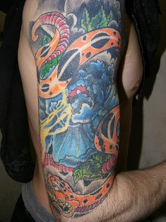Half Sleeve Forest Tattoo Designs for Men