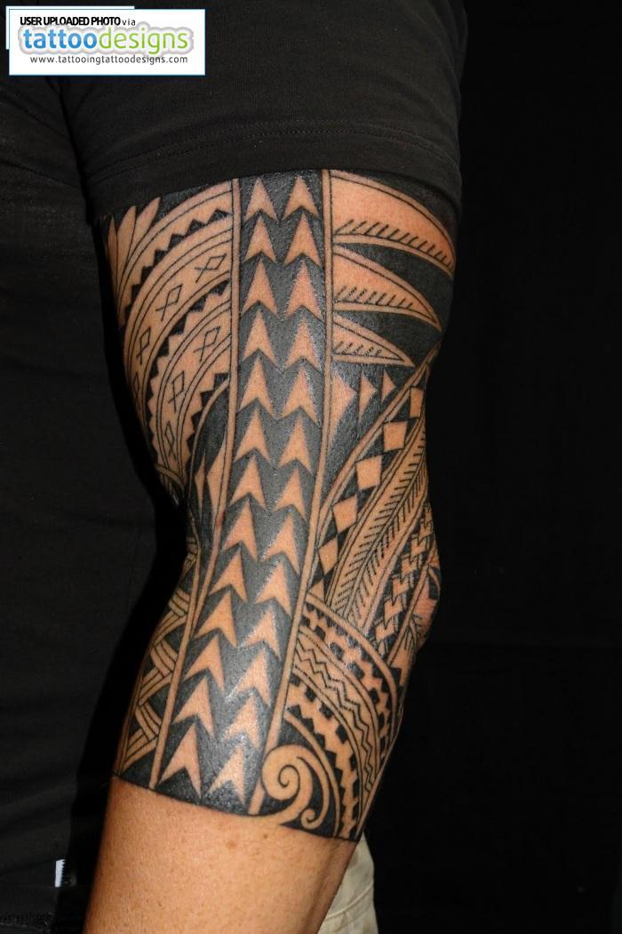 Maori Polynesian Half Sleeve Tattoo