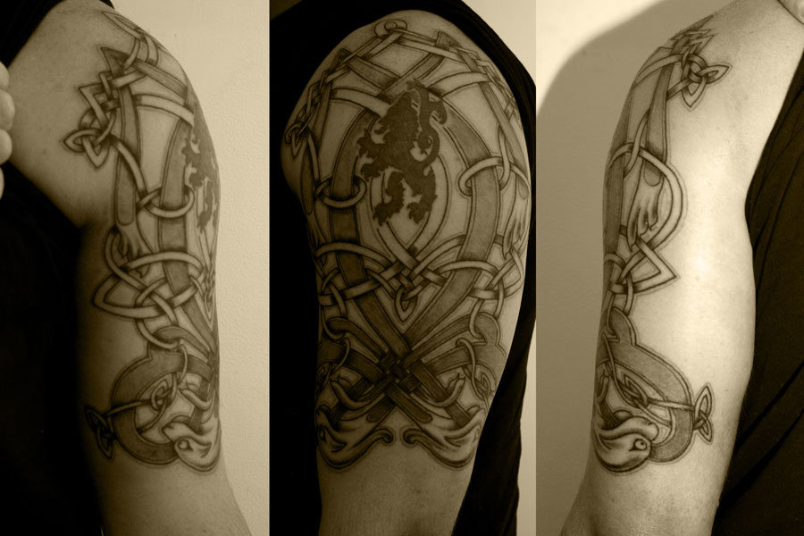 Black Half Sleeve Tattoo Designs