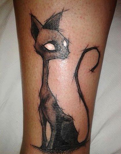 halloween-cat-tattoo