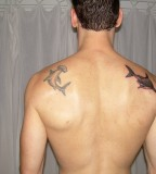 Beautiful Hammerhead Shark Upper Back Tattoo Design