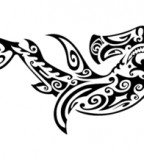 Exquisite Tribal Hammerhead Shark Tattoo Design