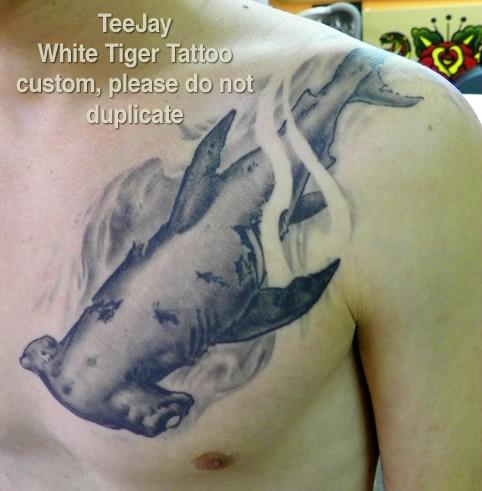 Imaginative Hammerhead Shark Tattoo